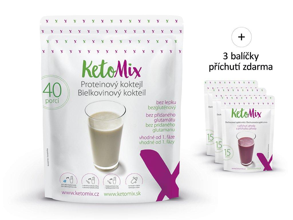 Protejnový koktejl KetoMix